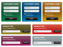 Forms for website royalty free illustration