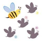 Formspiel - die Biene Stockfoto
