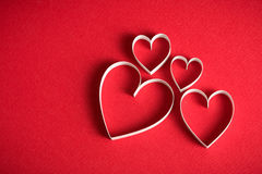 Formsymbol des Herzens 3D Stockfotos
