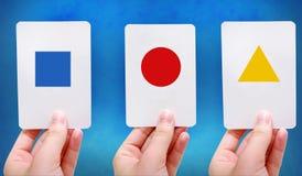 Formt grelle Karten Lizenzfreie Stockbilder