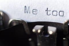 Formułuje «Ja zbyt «pisać na maszynie na maszynie do pisania obrazy stock