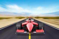 Formuła biegowy czerwony samochód ilustracja wektor