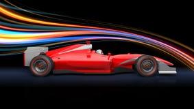 Formuła biegowy czerwony samochód ilustracji