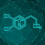 Formuła hormonu dopamine ilustracji