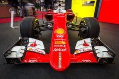 Formuła Jeden bieżny samochód Ferrari SF15-T, 2015 Obrazy Royalty Free