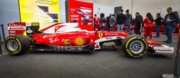 Formuła Jeden bieżny samochód Ferrari SF15-T, 2015 Zdjęcie Royalty Free