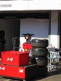 Formuła 1 Jeden Ferrari padok - F1 fotografie Zdjęcia Stock