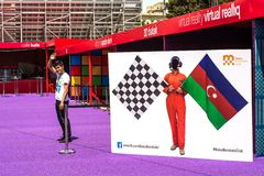 Formuła 1, Uroczysty Prix Europa, Baku 2016 sztandar Obraz Royalty Free