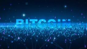 Formułuje bitcoin Fintech technologii i Blockchain sieci pojęcie, Rozdzielona księgi głównej technologia, Rozdzielony związek Obraz Royalty Free