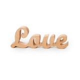 Formułuje miłości, drewniani listy na białym tle Lovestory lub ślubny wystrój Fotografia Royalty Free
