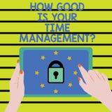 Formułuje pisać tekscie Jak Dobry Jest Twój czas Managementquestion Biznesowy pojęcie dla Dyrekcyjnych ostatecznych terminów sync ilustracja wektor
