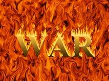 Formułuje wojnę ogarniającą w płomieniach na piekielnym tle Obraz Stock