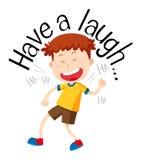 Formułuje zwrot dla śmiech z chłopiec śmiać się ilustracji