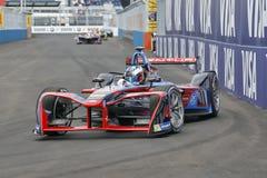 Formuły E Elektryczny samochód wyścigowy Obrazy Royalty Free