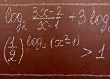 formuły matematycznie Zdjęcia Stock