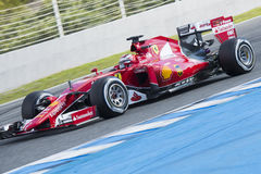 Formuła 1, 2015: Kimi Raikkonen, Ferrari Obrazy Royalty Free
