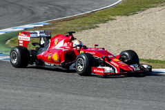 Formuła 1 2015: Sebastian Vettel Fotografia Stock