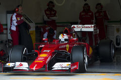 Formuła 1, 2015: Sebastian Vettel, Ferrari Fotografia Stock