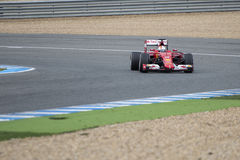 Formuła 1, 2015: Sebastian Vettel, Ferrari Obraz Stock