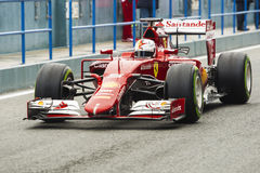 Formuła 1, 2015: Sebastian Vettel, Ferrari Obraz Royalty Free