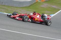 Formuła 1, 2015: Sebastian Vettel, Ferrari Obrazy Royalty Free