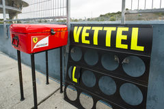 Formuła 1: Sebastian Vettel, Ferrari Zdjęcia Stock