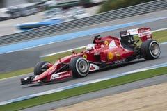 Formuła 1: Sebastian Vettel, Ferrari Zdjęcia Royalty Free