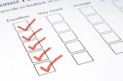 Formulário #1 do feedback Imagem de Stock