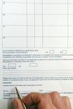 Formulário Fotografia de Stock