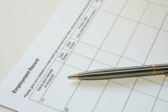 Formulário Imagens de Stock Royalty Free