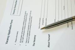 Formulário Imagem de Stock