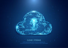 Formulário abstrato de um Internet estrelado da tecnologia do céu, dados da nuvem ilustração royalty free