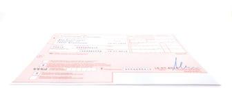 Formulário alemão da prescrição Imagem de Stock Royalty Free
