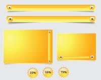 Formulário amarelo da Web Foto de Stock