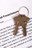 Formulário & Housekeys da execução duma hipoteca Fotos de Stock