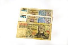 Formulário Argentina do dinheiro Foto de Stock Royalty Free