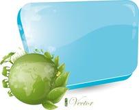 Formulário azul com projeto redondo da natureza Imagem de Stock