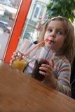 Formulário bebendo dois vidros Imagem de Stock
