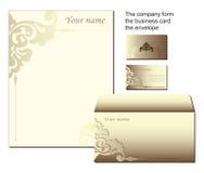 Formulário comercial dado forma dos artigos de papelaria ilustração stock