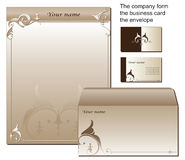 Formulário comercial dado forma dos artigos de papelaria Fotos de Stock Royalty Free