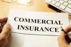 Formulário comercial do seguro foto de stock royalty free