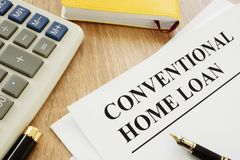 Formulário convencional do empréstimo hipotecario foto de stock royalty free