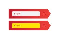 Formulário da busca Ilustração Stock