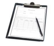 Formulário da busca de trabalho imagens de stock royalty free