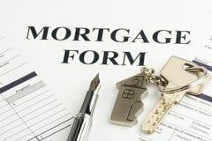 Formulário da hipoteca Fotos de Stock