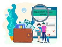 Formulário da proteção social para o seguro da família da população ilustração do vetor
