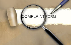 Formulário da queixa ilustração stock
