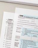 Formulário da renda de imposto dos E.U. imagens de stock royalty free