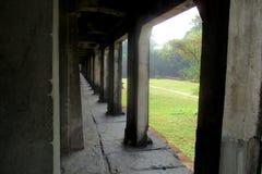 Formul?rio da vista a torre do templo de Angkor Wat, Siem Reap, Camboja imagens de stock