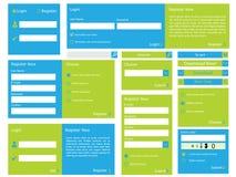 Formulário da Web com projeto liso ilustração stock